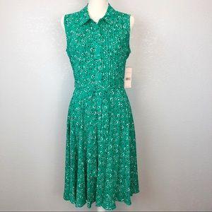 NWT Nanette Lepore   Floral Sleeveless Shirtdress